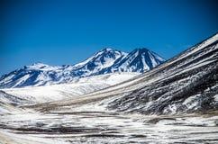 Cordillera dichtbij Atacama-woestijn, Chili stock afbeeldingen