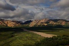 Cordillera en el Mt Parque nacional de Denali Fotos de archivo libres de regalías