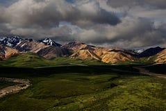 Cordillera en el Mt Parque nacional de Denali Fotografía de archivo libre de regalías