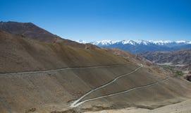 Cordillera en la India septentrional Foto de archivo libre de regalías