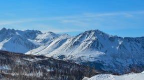 Cordillera hermosa en Alaska imagen de archivo