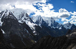 Cordillera Huayhuash in Dramatic Lighting, Central Peru Royalty Free Stock Image