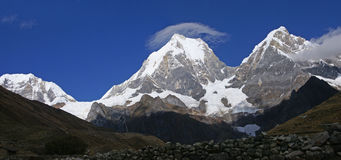 Cordillera Huayhuash, Yerupaja Royalty Free Stock Photo