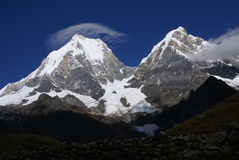 Cordillera Huayhuash, Yerupaja stock photo