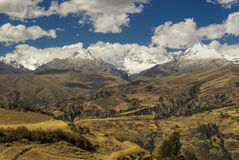 Cordillera Negra in Peru Royalty Free Stock Images