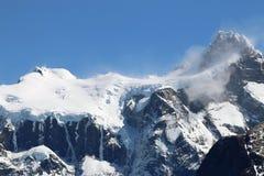 Cordillera Paine w Torres Del Paine parku narodowym patagonia Chile obrazy stock