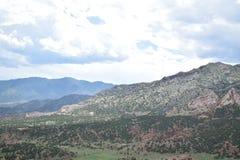 Cordilleras iluminadas Foto de archivo