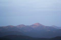 Cordilleras, los Cárpatos Imagen de archivo