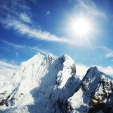cordilleras wysokiej góry Obrazy Royalty Free