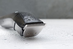 Cordless black electric razor Royalty Free Stock Images