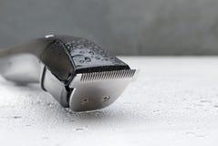 Cordless black electric razor Royalty Free Stock Images