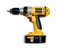 Cordless drill. On isolated white background royalty free stock image