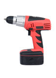Cordless drill. Isolation over white Royalty Free Stock Photography