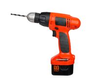 Cordless drill. On a white background stock photos