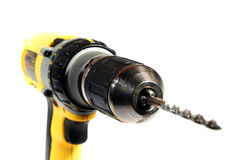 Cordless Drill. A cordless drill on white Stock Photography