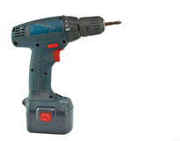 Cordless drill. With a cross head driver tip stock photo