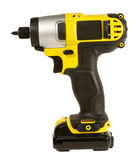 Cordless drill isolated Royalty Free Stock Images