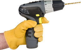 Cordless drill isolated Stock Images