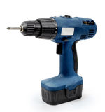 Cordless drill. Isolated on white background stock image
