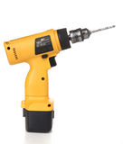 Cordless drill machine. With clipping path royalty free stock photography