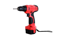 Cordless drill machine Royalty Free Stock Images