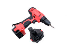 Cordless drill machine Royalty Free Stock Photography