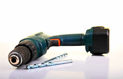 Cordless drill power tool Royalty Free Stock Image