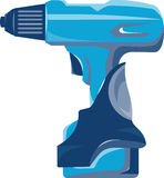 Cordless Drill Side Retro Stock Images