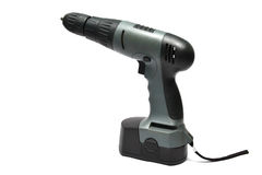 Cordless drilling machine Royalty Free Stock Photos