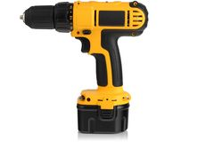 Cordless driver drill. Royalty Free Stock Photos