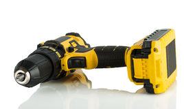 Cordless driver drill. On a white background Stock Photo