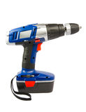 Cordless hammer drill, isolated Stock Images