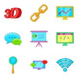Cordless hardware icons set, cartoon style. Cordless hardware icons set. Cartoon set of 9 cordless hardware vector icons for web isolated on white background Stock Photography