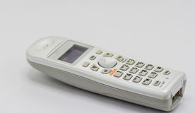 Cordless home phone. Isolate on white background Royalty Free Stock Photo