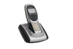 Cordless home phone, isolated on a white background Stock Images