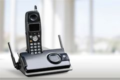 Cordless modern Phone, close-up view royalty free stock images