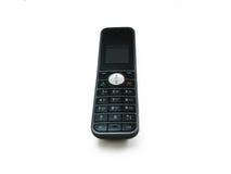 Cordless phone. One black cordless phone on the white background Royalty Free Stock Photos