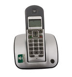 Cordless Phone. Dect cordless phone isolated on withe background. Closeup. includes a clipping path Stock Images