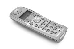 The cordless phone 2. The cordless phone isolated at the white background Royalty Free Stock Photography