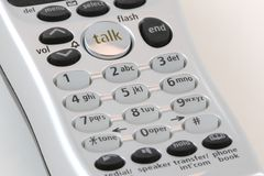Cordless Phone. Close up shot of phone Stock Photo