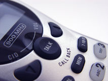 Cordless Phone Closeup. With white background Royalty Free Stock Photos