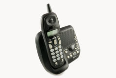 Cordless phone with dock station Stock Images