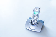 Cordless phone on a table Royalty Free Stock Photography