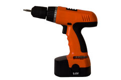 Cordless Screwdriver. A 9.6V cordless screwdriver with a posidrive bit attached royalty free stock photos