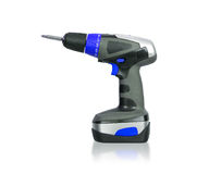 Cordless screwdriver or power drill Stock Photography