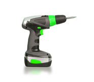 Cordless screwdriver or power drill Stock Photo