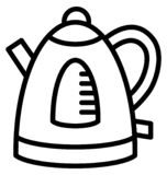 Cordless, tea kettle Isolated Vector Icon That can be easily edited in any size or modified. royalty free illustration