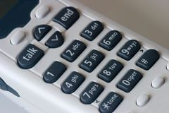 Cordless Telephone Macro Stock Photos