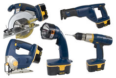Cordless Tool Set Stock Photos