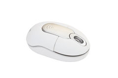 Cordless white computer mouse Royalty Free Stock Photo